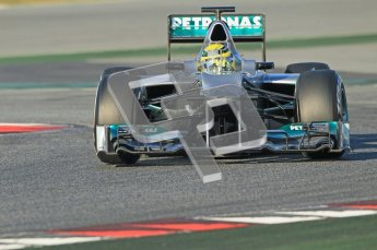 © 2012 Octane Photographic Ltd. Barcelona Winter Test 1 Day 2 - Wednesday 21st February 2012. Mercedes W03 - Nico Rosberg. Digital Ref : 0227lw1d7660