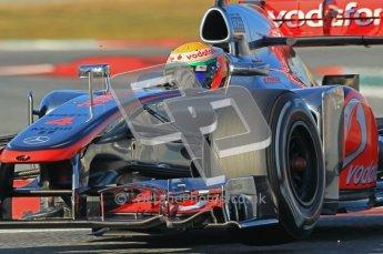 © 2012 Octane Photographic Ltd. Barcelona Winter Test 1 Day 2 - Wednesday 21st February 2012. McLaren MP4/27 - Lewis Hamilton. Digital Ref : 0227lw1d7762
