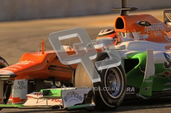 © 2012 Octane Photographic Ltd. Barcelona Winter Test 1 Day 2 - Wednesday 21st February 2012. Force India VJM05 - Nico Hulkenberg. Digital Ref :  0227lw1d7982