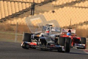 © 2012 Octane Photographic Ltd. Barcelona Winter Test 1 Day 2 - Wednesday 21st February 2012. Sauber C31 - Sergio Perez. Digital Ref : 0227lw1d8138