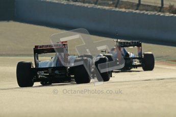 © 2012 Octane Photographic Ltd. Barcelona Winter Test 1 Day 2 - Wednesday 21st February 2012. Toro Rosso STR7 - Daniel Ricciardo. Digital Ref : 0227lw1d8387