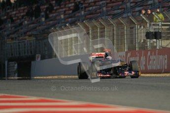 © 2012 Octane Photographic Ltd. Barcelona Winter Test 1 Day 2 - Wednesday 21st February 2012. Toro Rosso STR7 - Daniel Ricciardo. Digital Ref : 0227lw1d9025
