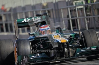 © 2012 Octane Photographic Ltd. Barcelona Winter Test 1 Day 2 - Wednesday 21st February 2012. Caterham CT01 - Vitaly Petrov. Digital Ref : 0227lw1d9380