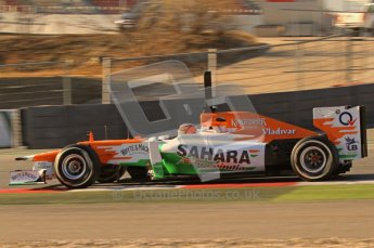 © 2012 Octane Photographic Ltd. Barcelona Winter Test 1 Day 2 - Wednesday 21st February 2012. Force India VJM05 - Nico Hulkenberg. Digital Ref : 0227lw7d6066