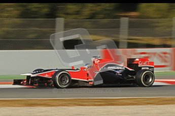 © 2012 Octane Photographic Ltd. Barcelona Winter Test 1 Day 2 - Wednesday 21st February 2012. MVR02 - Charles Pic. Digital Ref : 0227lw7d6239