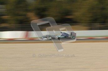 © 2012 Octane Photographic Ltd. Barcelona Winter Test 1 Day 2 - Wednesday 21st February 2012. Mercedes W03 - Nico Rosberg. Digital Ref : 0227lw7d6286
