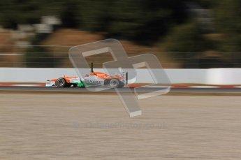 © 2012 Octane Photographic Ltd. Barcelona Winter Test 1 Day 2 - Wednesday 21st February 2012. Force India VJM05 - Nico Hulkenberg. Digital Ref : 0227lw7d6303