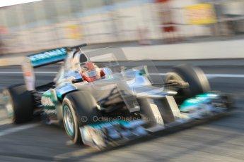© 2012 Octane Photographic Ltd. Barcelona Winter Test 1 Day 3 - Thursday 23rd February 2012. Mercedes W03 - Michael Schumacher. Digital Ref : 0228cb1d9478