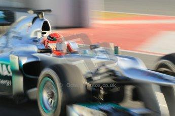 © 2012 Octane Photographic Ltd. Barcelona Winter Test 1 Day 3 - Thursday 23rd February 2012. Mercedes W03 - Michael Schumacher. Digital Ref : 0228cb1d9508