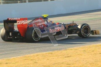 © 2012 Octane Photographic Ltd. Barcelona Winter Test 1 Day 3 - Thursday 23rd February 2012. Toro Rosso STR7 - Jean-Eric Vergne. Digital Ref : 0228cb1d9575