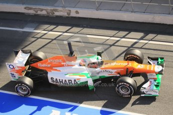 © 2012 Octane Photographic Ltd. Barcelona Winter Test 1 Day 3 - Thursday 23rd February 2012. Force India VJM05 - Paul di Resta. Digital Ref : 0228cb1d9746