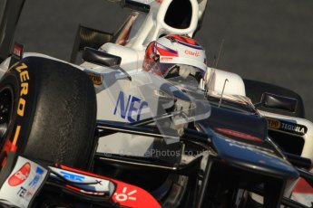© 2012 Octane Photographic Ltd. Barcelona Winter Test 1 Day 3 - Thursday 23rd February 2012. Sauber C31 - Kamui Kobayashi. Digital Ref : 0228cb7d6595