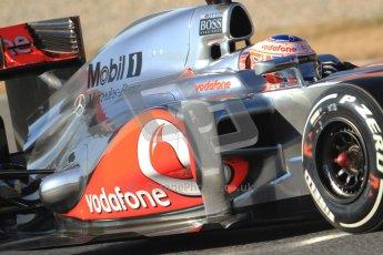 © 2012 Octane Photographic Ltd. Barcelona Winter Test 1 Day 3 - Thursday 23rd February 2012. McLaren MP4/27 - Jenson Button. Digital Ref : 0228cb7d6727