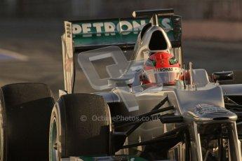 © 2012 Octane Photographic Ltd. Barcelona Winter Test 1 Day 3 - Thursday 23rd February 2012. Mercedes W03 - Michael Schumacher. Digital Ref : 0228lw7d2794