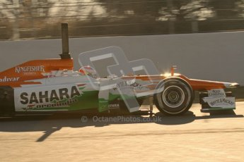 © 2012 Octane Photographic Ltd. Barcelona Winter Test 1 Day 3 - Thursday 23rd February 2012. Force India VJM05 - Paul di Resta. Digital Ref : 0228lw7d2902