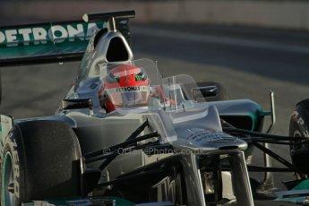 © 2012 Octane Photographic Ltd. Barcelona Winter Test 1 Day 3 - Thursday 23rd February 2012. Mercedes W03 - Michael Schumacher. Digital Ref : 0228lw7d2979