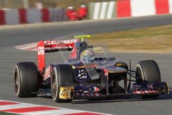 © 2012 Octane Photographic Ltd. Barcelona Winter Test 1 Day 3 - Thursday 23rd February 2012. Toro Rosso STR7 - Jean-Eric Vergne. Digital Ref : 0228lw7d3335