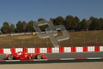 © 2012 Octane Photographic Ltd. Barcelona Winter Test 1 Day 3 - Thursday 23rd February 2012. Ferrari F2012 - Felipe Massa. Digital Ref : 0228lw7d3502