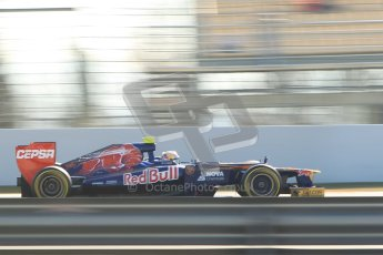 © 2012 Octane Photographic Ltd. Barcelona Winter Test 1 Day 4 - Friday 24th February 2012. Toro Rosso STR7 - Jean-Eric Vergne. Digital Ref : 0229cb1d0358