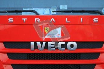 © 2012 Octane Photographic Ltd. Barcelona Winter Test 1 Day 4 - Friday 24th February 2012. Ferrari Iveco transporter. Digital Ref : 0229cb1d9891