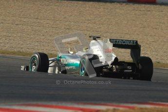© 2012 Octane Photographic Ltd. Barcelona Winter Test 1 Day 4 - Friday 24th February 2012. Mercedes W03 - Nico Rosberg. Digital Ref : 0229cb7d6806