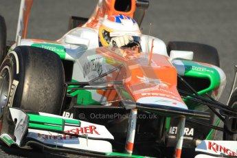 © 2012 Octane Photographic Ltd. Barcelona Winter Test 1 Day 4 - Friday 24th February 2012. Force India VJM05 - Paul di Resta. Digital Ref : 0229cb7d6858
