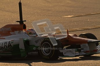 © 2012 Octane Photographic Ltd. Barcelona Winter Test 1 Day 4 - Friday 24th February 2012. Force India VJM05 - Paul di Resta. Digital Ref : 0229lw7d4343
