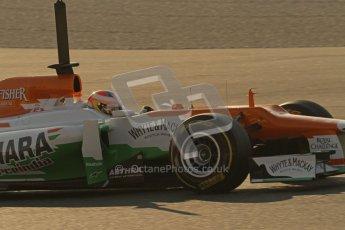 © 2012 Octane Photographic Ltd. Barcelona Winter Test 1 Day 4 - Friday 24th February 2012. Force India VJM05 - Paul di Resta. Digital Ref : 0229lw7d4372