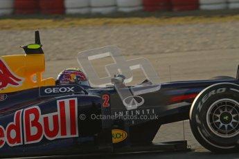 © 2012 Octane Photographic Ltd. Barcelona Winter Test 1 Day 4 - Friday 24th February 2012. Red Bull RB8 - Mark Webber. Digital Ref : 0229lw7d4449