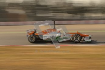 © 2012 Octane Photographic Ltd. Barcelona Winter Test 1 Day 4 - Friday 24th February 2012. Force India VJM05 - Paul di Resta. Digital Ref : 0229lw7d4787