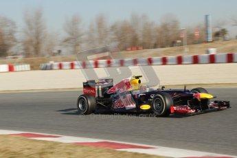 © 2012 Octane Photographic Ltd. Barcelona Winter Test 1 Day 4 - Friday 24th February 2012. Red Bull RB8 - Mark Webber. Digital Ref : 0229lw7d4968