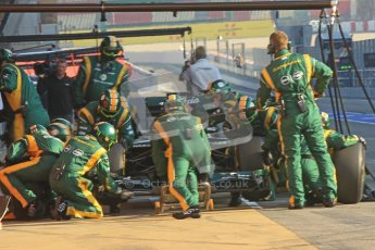© 2012 Octane Photographic Ltd. Barcelona Winter Test 2 Day 1 - Thursday 1st March 2012. Caterham CT01 - Vitaly Petrov. Digital Ref : 0231cb1d1726