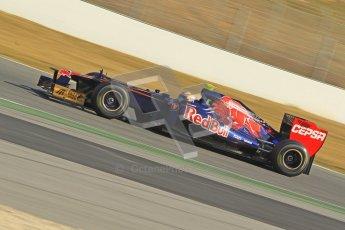 © 2012 Octane Photographic Ltd. Barcelona Winter Test 2 Day 1 - Thursday 24th March 2012. Toro Rosso STR7 - Jean-Eric Vergne. Digital Ref : 0231cb1d2037