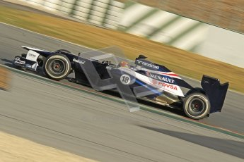 © 2012 Octane Photographic Ltd. Barcelona Winter Test 2 Day 1 - Thursday 1st March 2012. Williams FW34 - Pastor Maldonado. Digital Ref : 0231cb1d2047