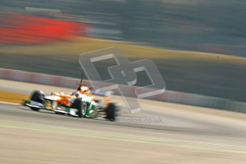 © 2012 Octane Photographic Ltd. Barcelona Winter Test 2 Day 1 - Thursday 24th March 2012. Force India VJM05 - Paul di Resta. Digital Ref :  0231cb1d2146