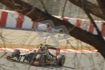 © 2012 Octane Photographic Ltd. Barcelona Winter Test 2 Day 1 - Thursday 24th March 2012. Lotus E20 - Romain Grosjean. Digital Ref : 0231cb1d2226