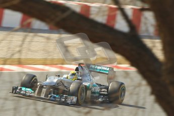 © 2012 Octane Photographic Ltd. Barcelona Winter Test 2 Day 1 - Thursday 1st March 2012. Mercedes W03 - Nico Rosberg. Digital Ref : 0231cb1d2244