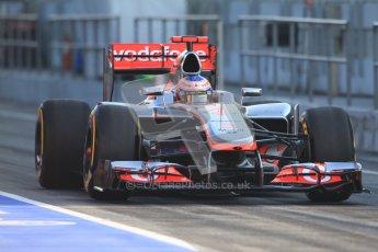 © 2012 Octane Photographic Ltd. Barcelona Winter Test 2 Day 1 - Thursday 1st March 2012. McLaren MP4/27 - Jenson Button. Digital Ref : 0231cb7d7698