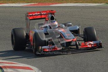 © 2012 Octane Photographic Ltd. Barcelona Winter Test 2 Day 1 - Thursday 1st March 2012. McLaren MP4/27 - Jenson Button. Digital Ref : 0231cb7d7966