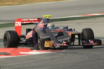 © 2012 Octane Photographic Ltd. Barcelona Winter Test 2 Day 1 - Thursday 24th March 2012. Toro Rosso STR7 - Jean-Eric Vergne. Digital Ref :0231cb7d8071