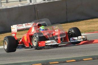 © 2012 Octane Photographic Ltd. Barcelona Winter Test 2 Day 1 - Thursday 1st March 2012. Ferrari F2012 - Felipe Massa. Digital Ref : 0231cb7d8109