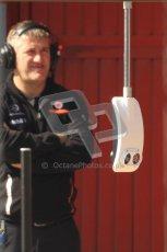 © 2012 Octane Photographic Ltd. Barcelona Winter Test 2 Day 1 - Thursday 1st March 2012. McLaren's pitbox experimental traffic light system. Digital Ref : 0231cb7d8304