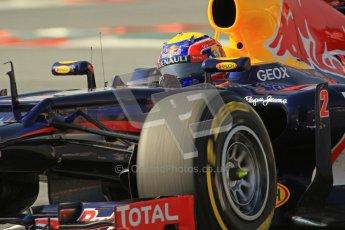 © 2012 Octane Photographic Ltd. Barcelona Winter Test 2 Day 1 - Thursday 1st March 2012. Red Bull RB8 - Mark Webber. Digital Ref : 0231lw7d0288