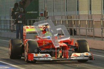 © 2012 Octane Photographic Ltd. Barcelona Winter Test 2 Day 1 - Thursday 1st March 2012. Ferrari F2012 - Felipe Massa. Digital Ref : 0231lw7d7532