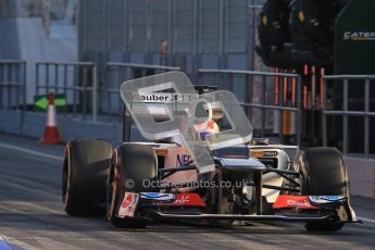 © 2012 Octane Photographic Ltd. Barcelona Winter Test 2 Day 1 - Thursday 1st March 2012. Sauber C31 - Sergio Perez. Digital Ref : 0231lw7d7707