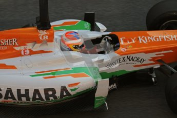 © 2012 Octane Photographic Ltd. Barcelona Winter Test 2 Day 1 - Thursday 24th March 2012. Force India VJM05 - Paul di Resta. Digital Ref : 0231lw7d8975