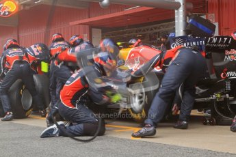 © 2012 Octane Photographic Ltd. Barcelona Winter Test 2 Day 2 - Friday 2nd March 2012. Red Bull practice pit stops. Digital Ref :