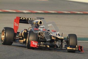 © 2012 Octane Photographic Ltd. Barcelona Winter Test 2 Day 3 - Saturday 3rd March 2012. Lotus E20 - Kimi Raikkonen. Digital Ref : 0233cb7d9184