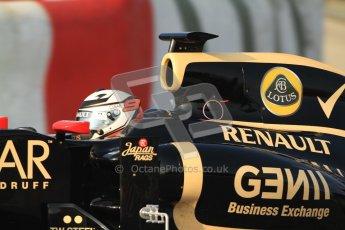 © 2012 Octane Photographic Ltd. Barcelona Winter Test 2 Day 3 - Saturday 3rd March 2012. Lotus E20 - Kimi Raikkonen. Digital Ref : 0233cb7d9195