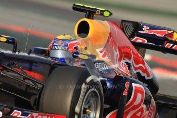 © 2012 Octane Photographic Ltd. Barcelona Winter Test 2 Day 3 - Saturday 3rd March 2012. Red Bull RB8 - Mark Webber. Digital Ref : 0233cb7d9261